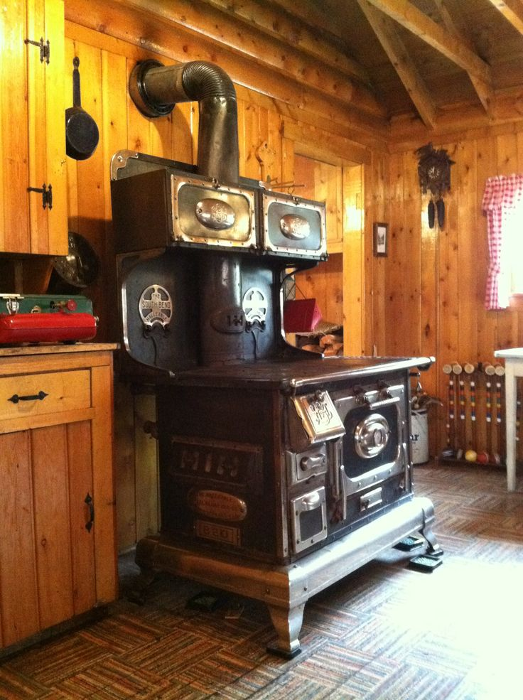 Old cook stove - South Bend Malleable