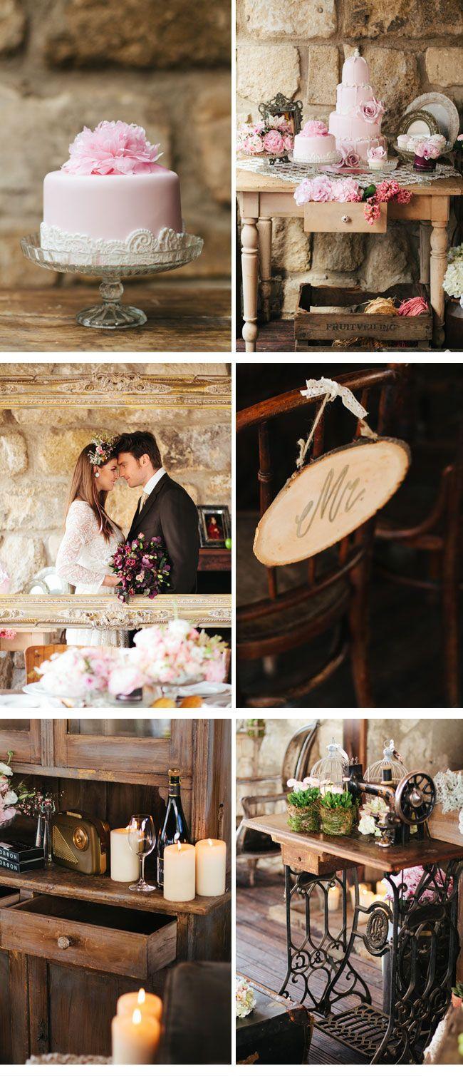 vintage dekoration6-hochzeitstorte  Wedding Cake Table  Pinterest