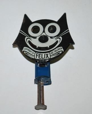 Felix The Cat Tin Toy Spinner Sparkler Vintage