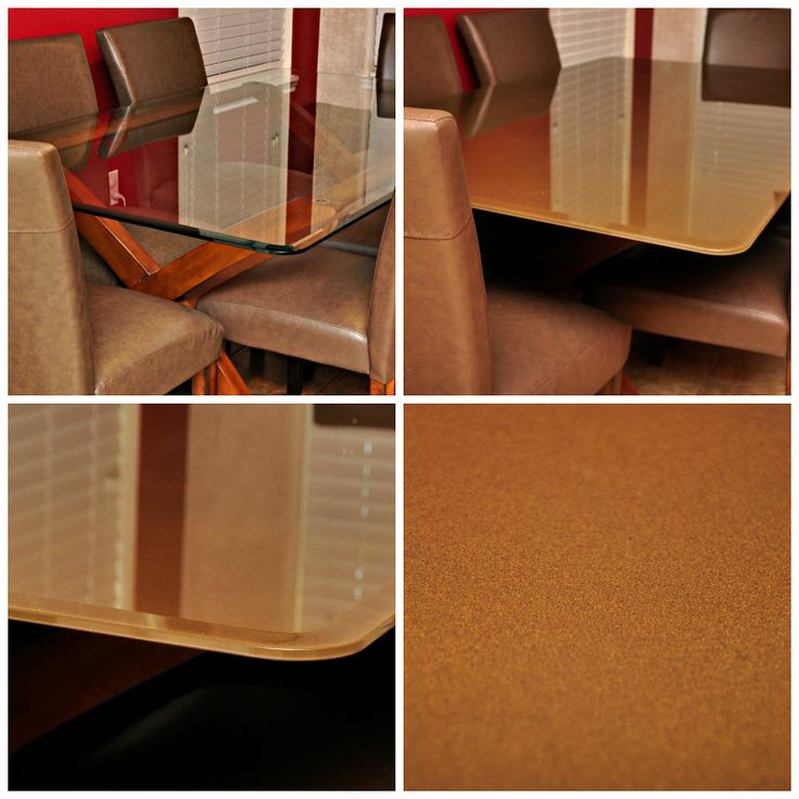 Diy in 123 glass dining room table redo home spaces pinterest