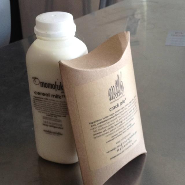 Cereal milk & crack pie @ momofuku milk bar, Brooklyn