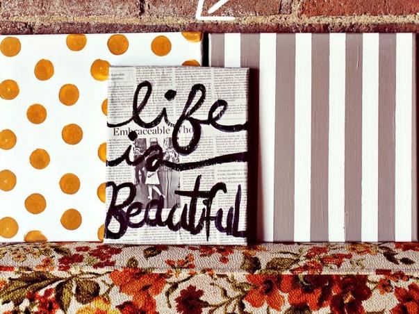 DIY Canvas Wall Art Ready Set CREATE Pinterest