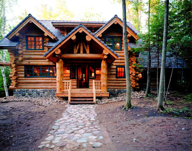 Hometime Cabin Handcrafted Log Home Exteriors Pinterest