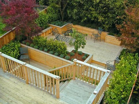 Terraced deck decks pinterest