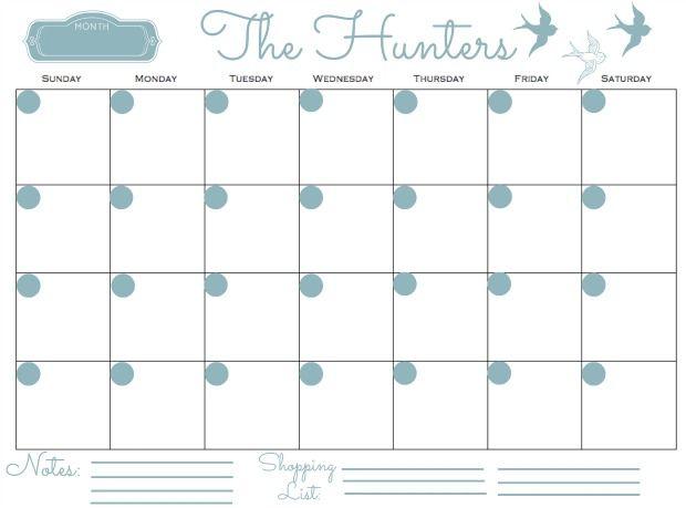 Family Calendar 2015 Printable : Monthly family calendar printable search results