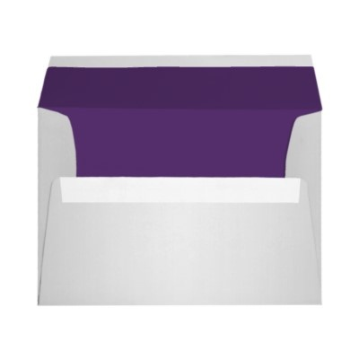 """Purple and Silver A7 Envelope fits 5""""x7"""" Sizes"""