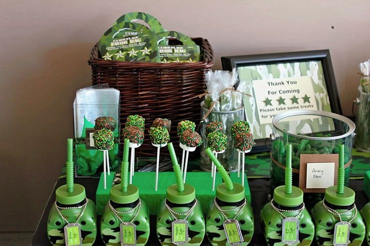 Camouflage party camo military birthday party for Army party decoration ideas