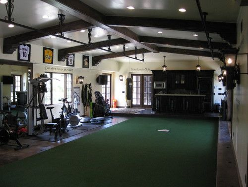 indoor batting cage and exercise room for the home pinterest