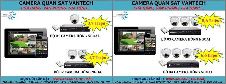 Trọn bộ lắp đặt camera Vantech giá rẻ