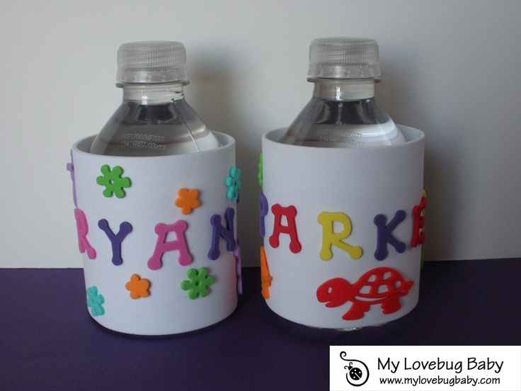 Personalized Water Bottle Covers | Craft/DIY Ideas | Pinterest: pinterest.com/pin/202802789440846246
