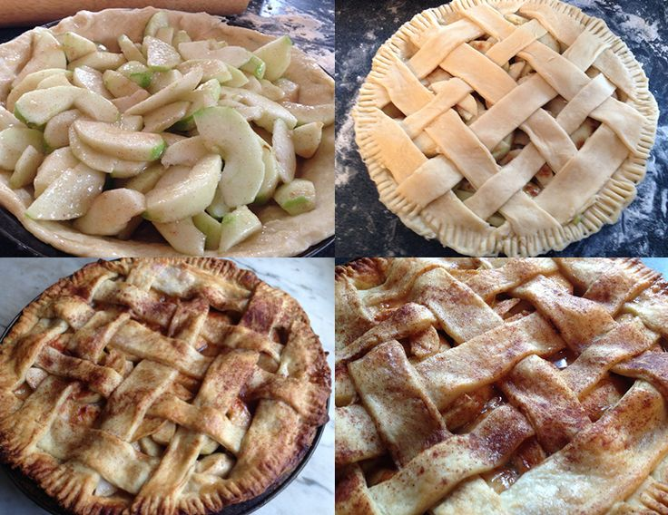 ... lattice pie crust washed with almond milk, brown sugar, white sugar