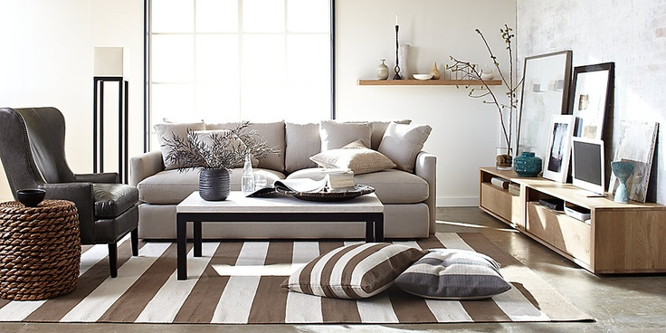 Crate Barrel Living Room Inspiration Living Room Pinterest
