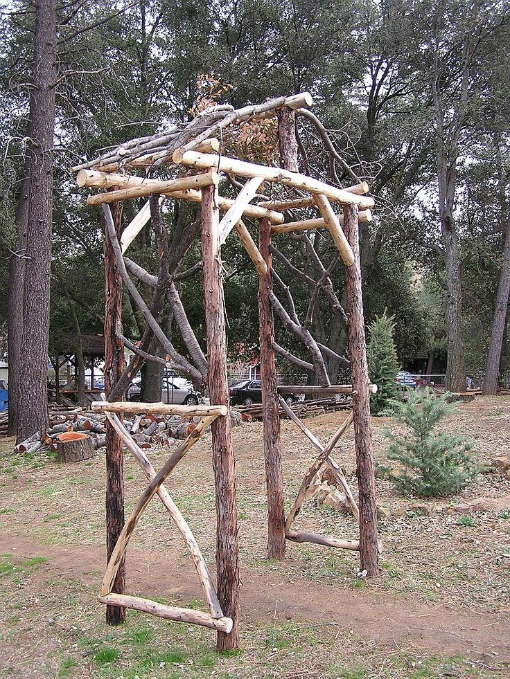 how to build a rustic twig trellis