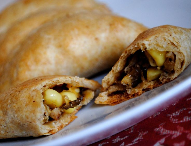 Empanadas: I experimented with the filling, using what I had (chicken ...
