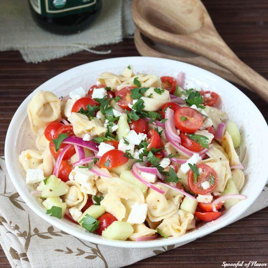Tortellini Pasta Salad Spoonful of Flavor