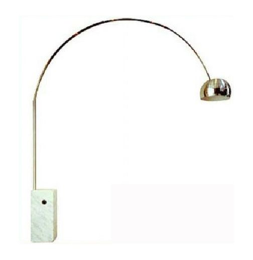 want it now gold plated aluminum arc floor lamp w marble base. Black Bedroom Furniture Sets. Home Design Ideas