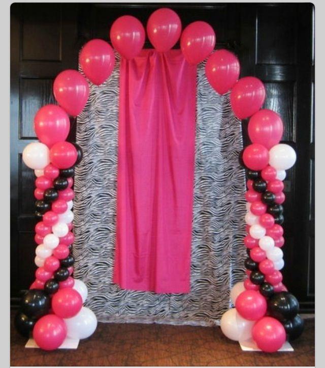 Balloon arch sophie 1st birthday pinterest for Balloon decoration arches