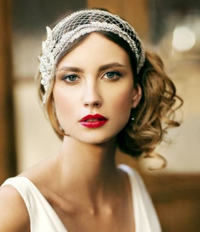 Hairstyles In The 20s : 20s Hairstyles Wedding #gatsby headpiece bridal
