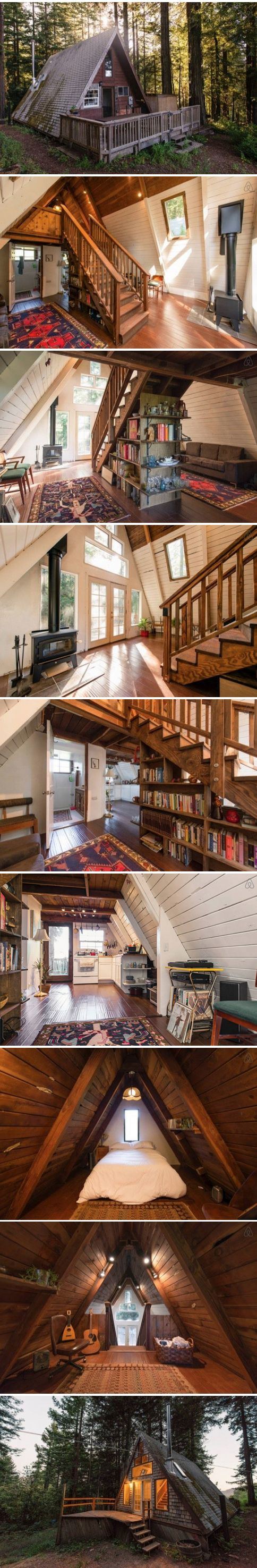 Beautiful A-Frame cottage in California