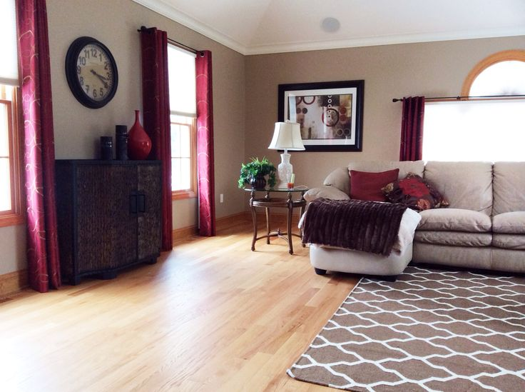 Beige And Red Living Room Home Pinterest