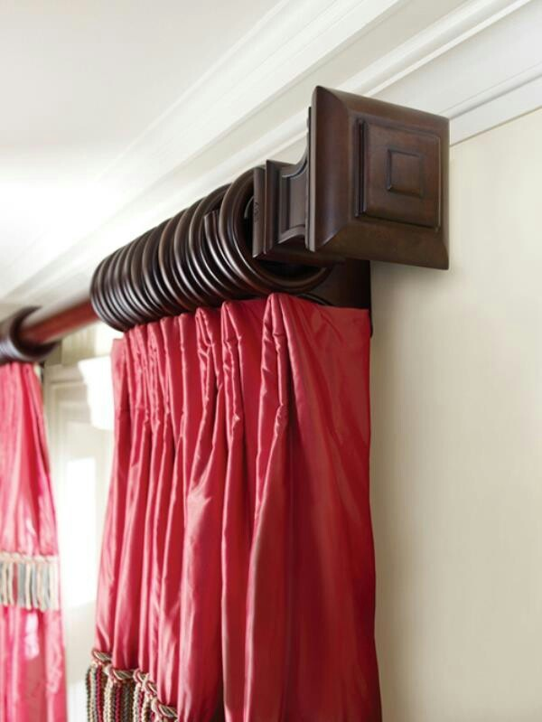 Curtain rods wooden | Interior decoration | Pinterest