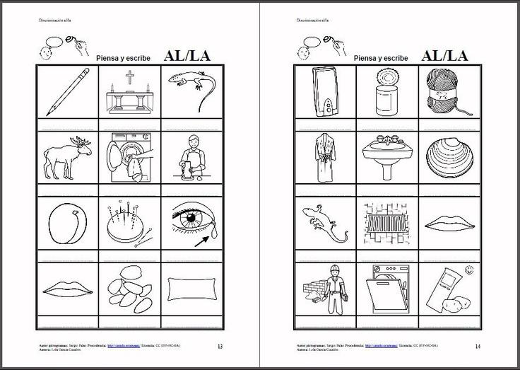 MATERIALES - Errores en la escritura.    Libros o cuadernillos de fichas para trabajar los errores (en algunos casos persistentes) en la escritura.    http://arasaac.org/materiales.php?id_material=966