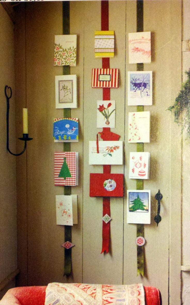 Christmas Card Display Christmas Card Ideas Pinterest