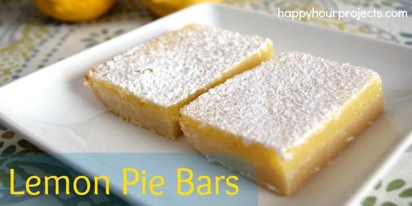 Lemon Pie Bars | Favorite Recipes | Pinterest