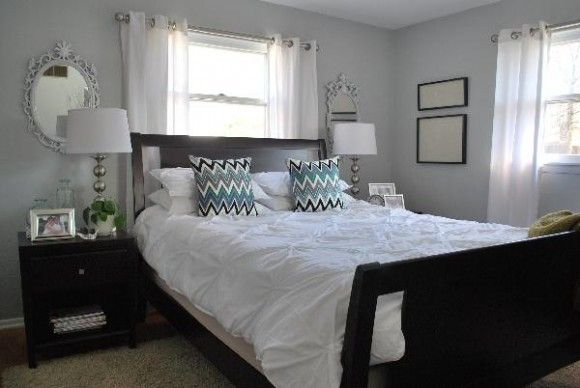 gray bedroom walls