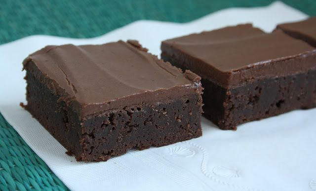 Classic Brownies w/frosting   Recipes - Cookies/Bars   Pinterest