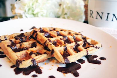 ... Oat Waffles with Dark Chocolate Orange Syrup ~ The Skinny Weigh (V/GF