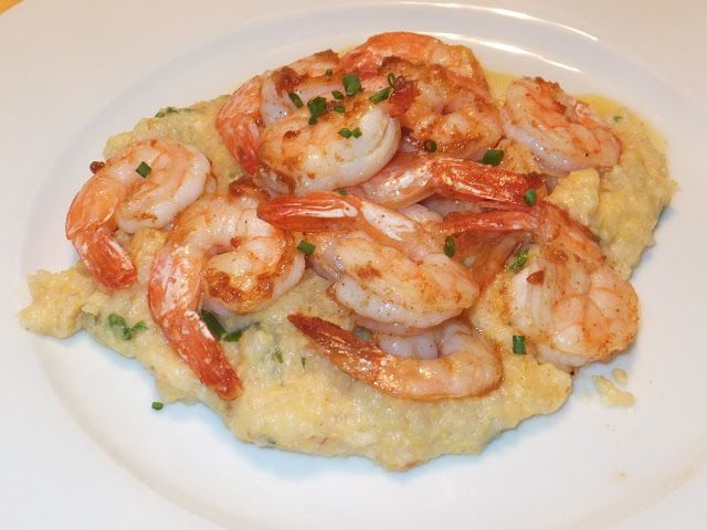 Pan Seared Shrimp with Polenta! | Food and Drink | Pinterest