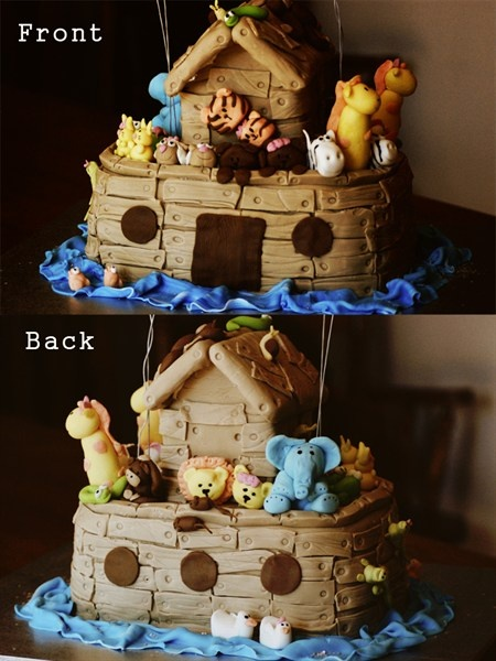 Noah 39 s ark cake decorating ideas cakes pinterest for Noah s ark decorations