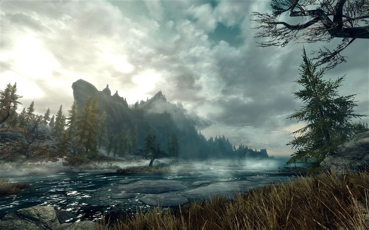 Bethesda does some of the most beautiful scenery I've ever seen in a video game. This is from Skyrim.