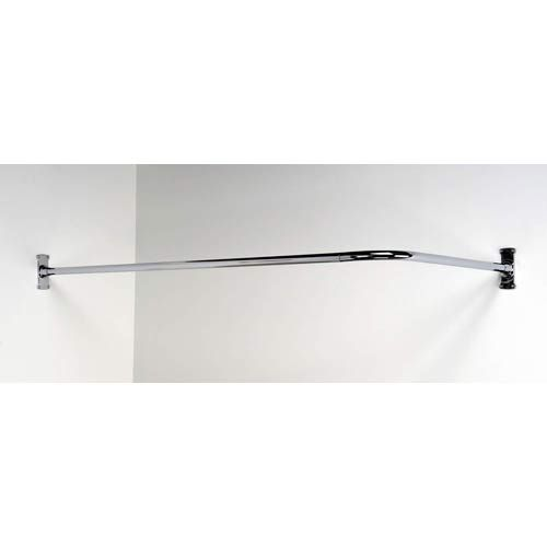 Polished chrome 60 x 26 inch corner shower curtain rod