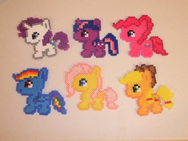 My little pony perler beads iron beads strijkkralen pinterest