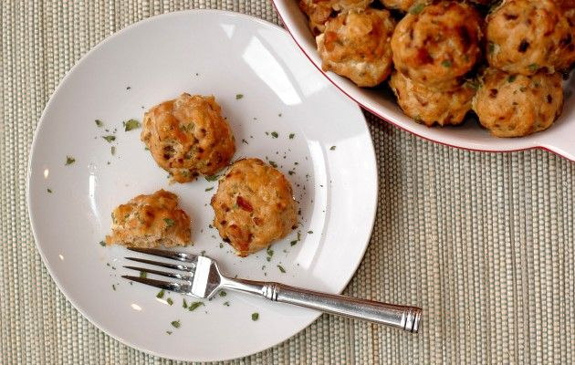 Three Lucky Husbands » Baked Chicken Meatballs--With a special ...