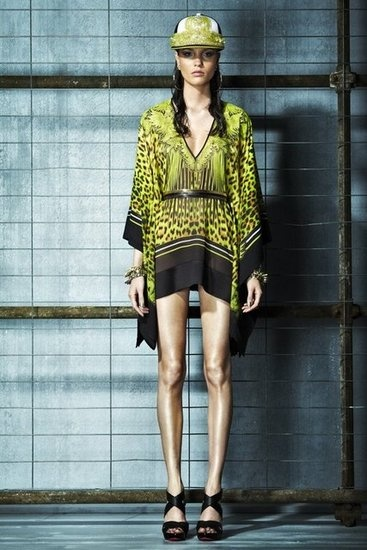 leopard print short dress | Just Cavalli Resort 2013