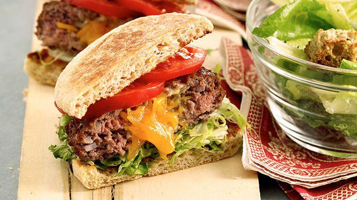Cheddar-Stuffed Burgers Recipe (Bison)