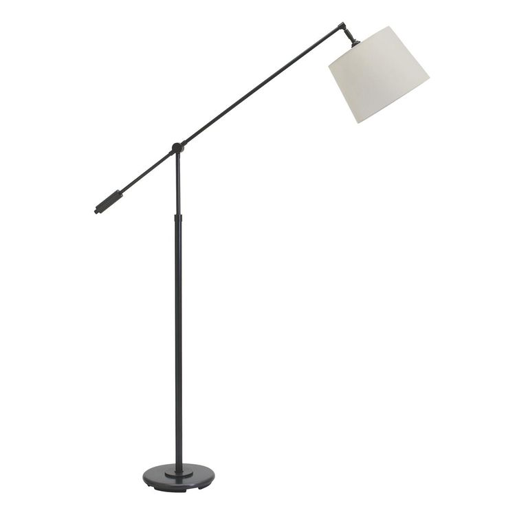 straight arc lever arm floor lamp available in 3 colors antique bras. Black Bedroom Furniture Sets. Home Design Ideas