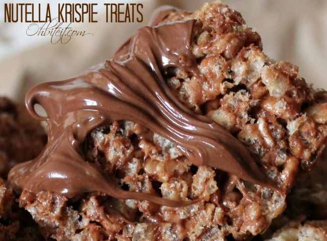 Nutella Krispie Treats | Sweet Tooth | Pinterest