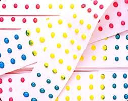 dot candy on paper