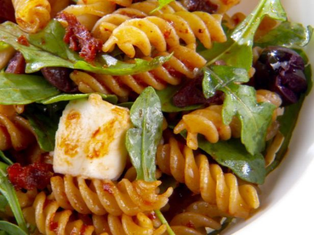 As seen on Giada at Home: Fusilli with Sun-Dried Tomato Vinaigrette