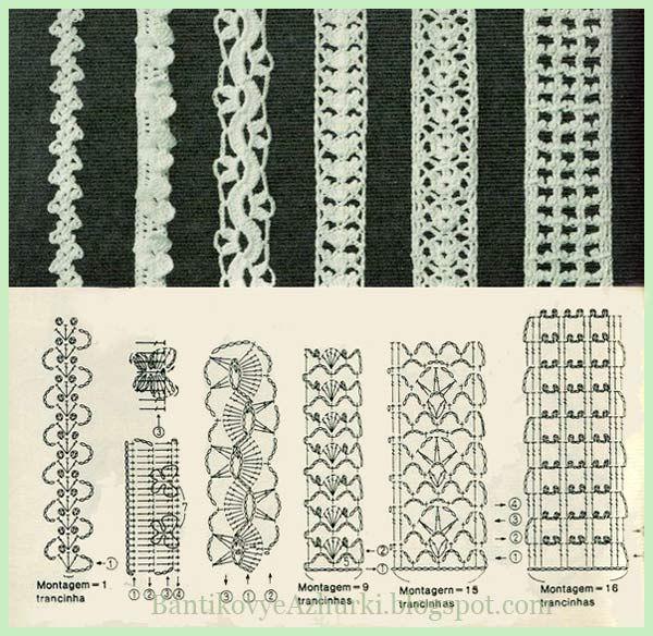 Вязание крючком шнурка для платья 9