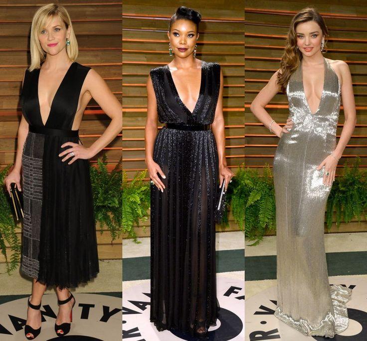 Reese Witherspoon, Gabrielle Union et Miranda Kerr portent les robes soirées très décolletées