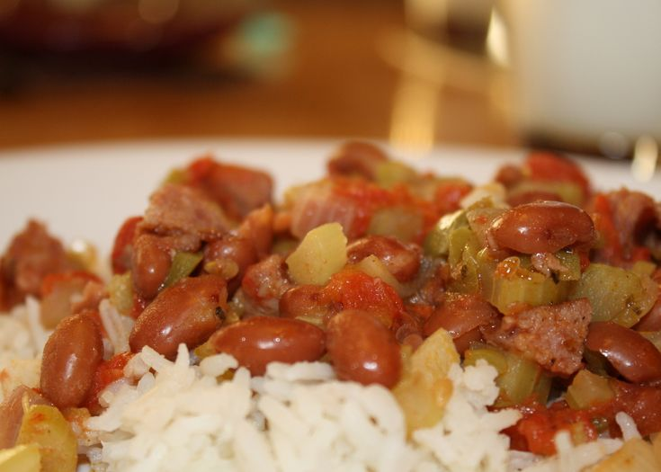Cajun Red Beans and Rice | Food: Non Primal Meals | Pinterest
