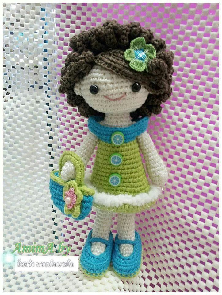 Crochet Hair Doll : Crochet doll #amigurumi #doll Amigurumi Pinterest