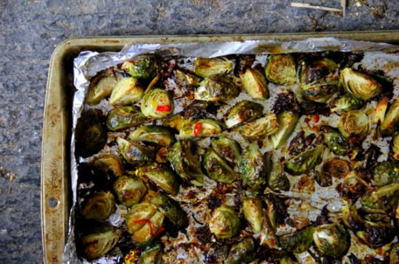 Maple-Chile Roasted Brussels Sprouts - These are AMAZING but only use ...