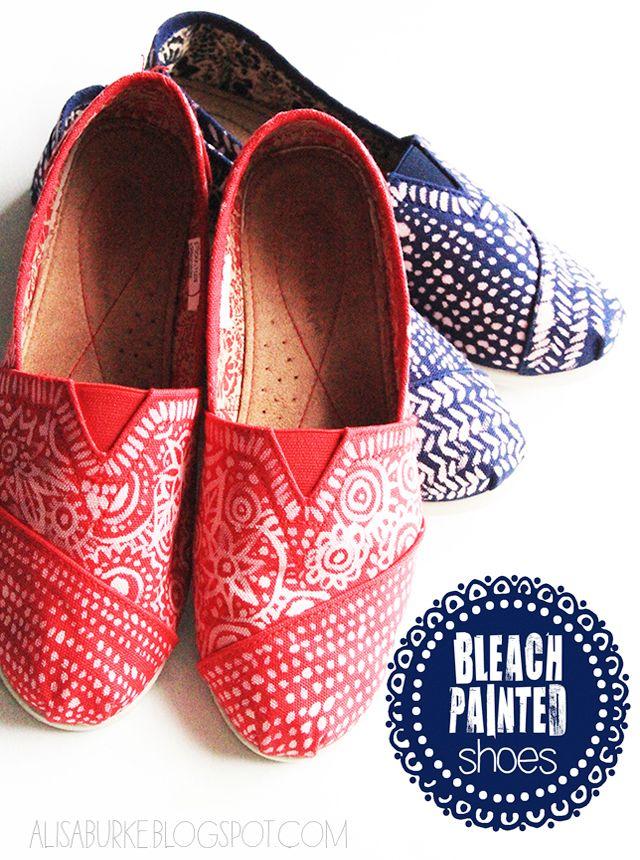 #diy bleached shoes