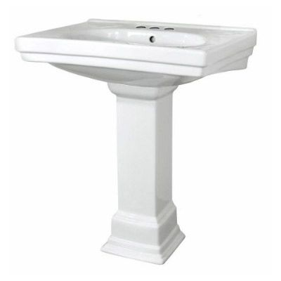 Pegasus Pedestal Sink : What about this one? Pegasus Structure Pedestal Bathroom Sink with 4 ...